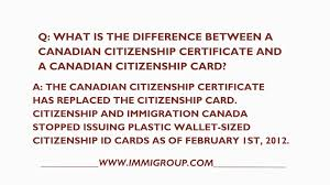 canadian citizenship certificate new what is the difference between a canadian citizenship certificate of canadian citizenship
