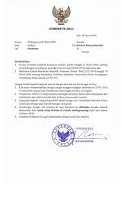 Salah satu contoh dari surat niaga adalan surat penawaran dan surat penagihan. Surat Himbauan Gubernur Bali Jdih Pemerintah Provinsi Bali