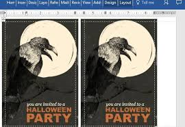 free postcard template for word free halloween party postcard template for word