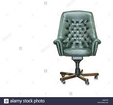 president office furniture. The President Office Chair From Green Leather. Isolated - Stock Image Furniture