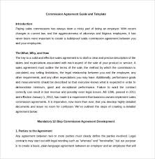 Sales Commissions Template 23 Commission Agreement Templates Word Pdf Pages Free