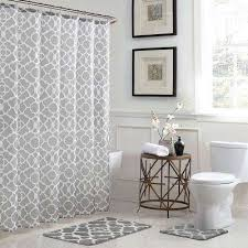 white and grey shower curtains. Delighful And Elsa Geometric 18 In X 30 Bath Rug And 72 With White And Grey Shower Curtains T