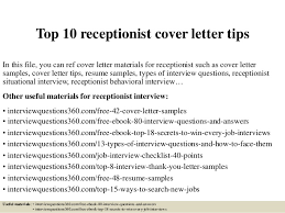 Awesome Collection Of Junior Receptionist Cover Letter Sample