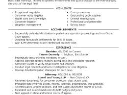 Sample Attorney Resumes Resume Template Directory