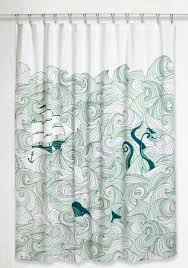 swell acquainted shower curtain  modcloth