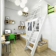 office space inspiration. Office:Gorgeous White Teen Office Space Inspiration With Unusual Staircase Design Gorgeous