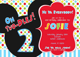 Mickey Mouse Clubhouse 2nd Birthday Invitations Mickey Mouse Clubhouse Or Minnie Mouse Birthday Party Ideas