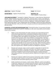 Best Paralegal Resume Example Livecareer Sample Civil Litigation