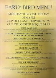 Special Promotions Bostons Fish House