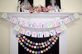 Welcome Home Baby Boy Banner Baby Shower Decor Welcome Home Baby Banner And Garland Set