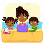 Image result for bed time reading clipart