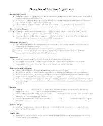 Entry Level Finance Resume Objective Samples Position Staff ...