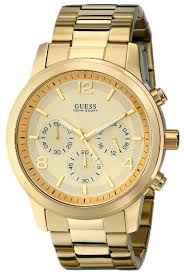 amazon com guess men s u15061g2 defining style gold tone amazon com guess men s u15061g2 defining style gold tone chronograph watch guess watches