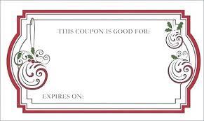 Coupon Format Template Free Blank Coupon Templates Gift Coupon Format Birthday Template