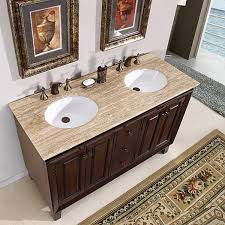 charming 55 inch double sink vanity silkroad exclusive alameda 55 inch double sink dark brown bathroom