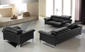 Modern Black Leather Couches Of Contemporary Sofa Set Intended Beautiful Ideas