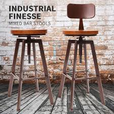 Modern Bar Stool Chair Industrial Swivel Kitchen Dining Chair Home