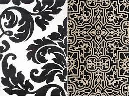 black and white rug patterns. Floral Pattern Square Black And White Wool Carpet Vintage Classic Shapes Interior Unique Thick Soft Rug Patterns S