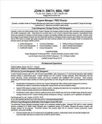 manager resume sample templates 44 free word pdf documents - Program  Manager Resume