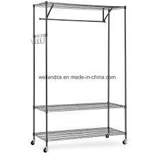 china diy 3 tier black closet garment rack with wheels china garment shelf metal garment shelf