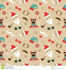 retro christmas wallpaper. Contemporary Wallpaper Christmas Hipster Retro Seamless Pattern In Wallpaper