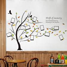 fallen leaves photo frame wall stickers creative diy family tree wall decals for living room bedroom decoration wall transfers stickers wall vinyl from
