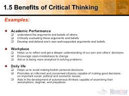 benefits of critical thinking