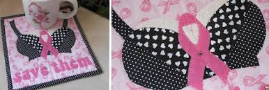 Breast Cancer Awareness Quilts: Celebrate our Sisters! & Quilt with Cute Bra and Pink Ribbon Design Adamdwight.com