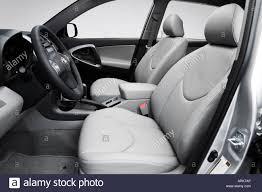 2008 Toyota RAV4 Limited in Silver - Front seats Stock Photo ...