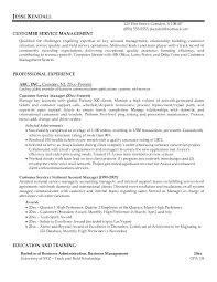 Supervisor Objective For Resume Customer Service Management Resume 23