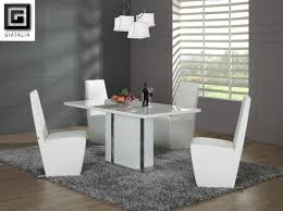 white modern dining chairs. Modern White Round Dining Table Set For 4. View Larger Chairs