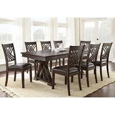 impressive avalon dining table and chairs 9 piece set sets in within the most elegant along