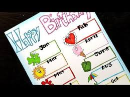 Chart Border Decoration Ideas Birthday Chart Ideas For School Projects Classroom