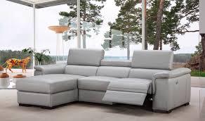 alba premium leather sectional sofa in light grey free