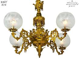 victorian chandelier pair of antique chandeliers rococo 4 arm gas lighting ant for victorian brass chandelier uk