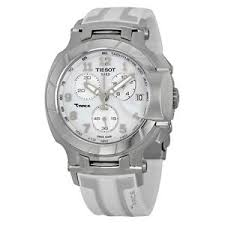 tissot t race chronograph white grey dial white silicone mens image is loading tissot t race chronograph white grey dial white