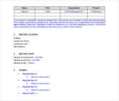 14 Meeting Itinerary Templates Sample Example Format Download