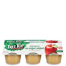 no sugar added apple sauce cups