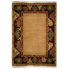 tufenkian transitional gold black red green wool rug 5056