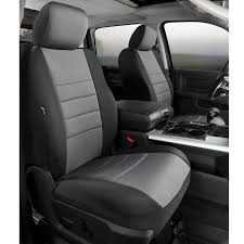 fia neoprene custom fit seat covers front seat black with gray center panel pair