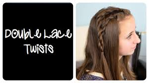 Lace Hair Style diy double lace twists cute girls hairstyles youtube 8722 by wearticles.com