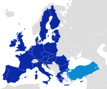 turkey europe map. Exellent Europe After Becoming One Of The First Members Council Europe In 1949  Turkey Became An Associate Member EEC 1963 Joined EU Customs Union  For Map