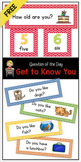 Free Question Of The Day Get To Know You Pocket Chart