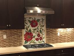 we were commissioned to create this colorful red fl mosaic mural for our client in california it looks fantastic in their renovated kitchen