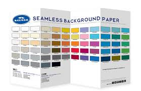 Savage Seamless Background Paper Color Chart