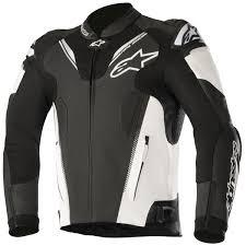 alpinestars atem v3 leather jacket black white