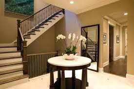 half moon hallway table staircase traditional with crown molding floor length mirror neutral colors for nz interesting half table
