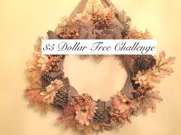 Fall Wreath 5 Dollar Tree Up Cycle Challenge Fall Wreath Youtube