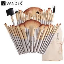 vander professional soft chagne 32pcs makeup brushes set beauty cosmetic real make up tools eyesh