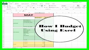 How To Use Excel For A Budget Financial Friday How I Budget Using Excel